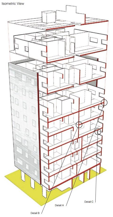 Figura 5 – estruturação do Stadthaus, Murray Grove.