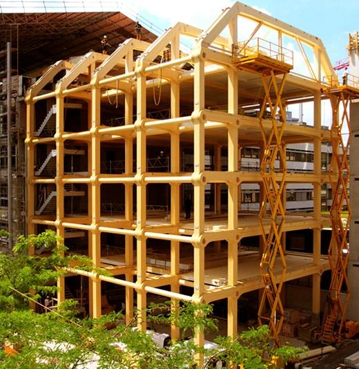 Figura 7 – Estrutura de madeira do edifício do grupo Tamedia.