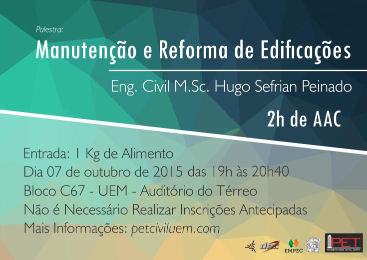 Palestra - Manutenção e Reforma de Edificações